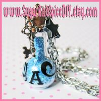Drink Me Alice Bottle Necklace by SugarAndSpiceDIY