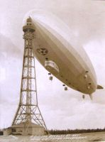 USS Los Angeles at Lakehurst High-Mast by FCARVALLO