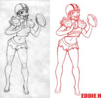 Football girl by EddieHolly