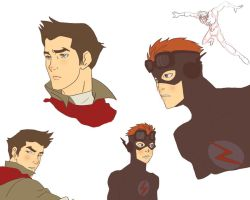 fanart Flash Kid and Mako by twinkletinystar