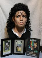 My Michael Jackson Bad era bust setup display by godaiking