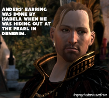 Dragon Age Headcanon: Anders' Earring by ParisWriter