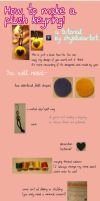 Tutorial: Felt Plush Keyring by shyblueartist