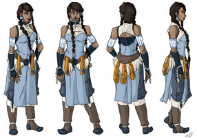 Adult Korra fan concept art by Gordontastic