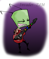ZIM CAN ROCK GUITAR HERO TOO by Invader--ZIM