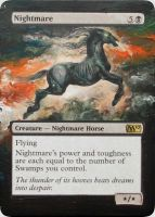 MTG Altered Card: Nightmare by idielastyr