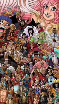 One Piece 17th Anniversary: 60 Characters by Deer-Head