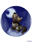 Howling to the moon by Anima-en-Fuga