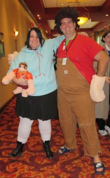 Vanellope and Ralph - Ichibancon 2014 by MaryRyanBogard