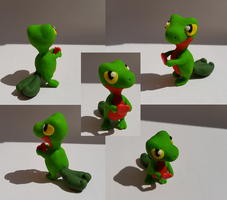 Treecko Love Sculpture by CharredPinappleTart