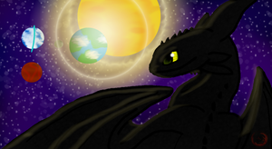 Space Toothless *COMMISSION* by allisonneal
