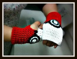 Pokemon Gloves by LauraJensen09