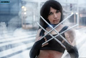 X-23 - Even if I'm hurt... I won't lose... by AlexysCosplay