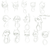 Pony faces by Alumx