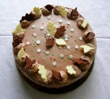 'From Autumn Till Winter' Birthday Cake by Wilhelmine