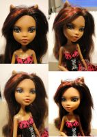 Clawdeen Wolf Monster High repaint commission by Neko-Art