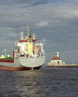 Ship Leaving Duluth Harbor by MNCrowgirl