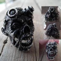 Zombie Steampunk Ring by SimonSaysBaka