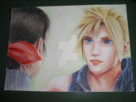 FFVII AC Cloud and Marlene by 7marichan7