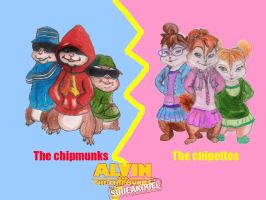 The chipmunks vs The chipettes by brittanyandalvin