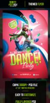 Dance Party Flyer Template by odindesign