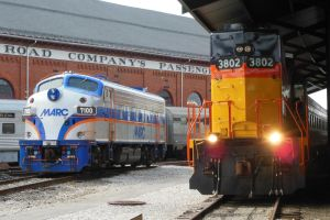 MARC 7100 and Chessie 3802 by rlkitterman