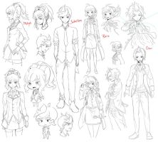 RT Character Sketches by draa