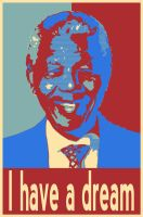 Fan art - nelson mandela by DaanParts