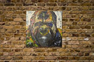 Gorilla original spray paint art by colorpeoject