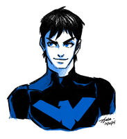 Nightwing by xldlcrz
