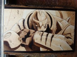 Alfonse Elric Woodburning by ironhorn2501