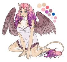 SOLD - Unicorn Girl by centuries-before