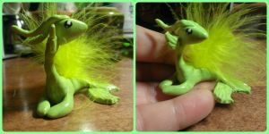 Tiny Water Feathered Water Dragon by NightingaleTradingCo