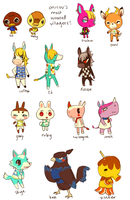animal crossing -- dream villagers by onisuu