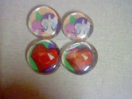 Sparity and Fire Jewel Magnets by lcponymerch