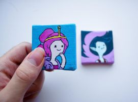 Princess Bubblegum and Marceline Diptych by LunaAshley