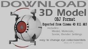 Model Download-GLaDOS Core OBJ by 100SeedlessPenguins