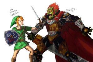 Link Vs Ganondorf by MikeES
