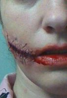 First Time Horror Makeup by SkaydaLee