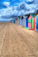 Brighton Bathing Boxes HDR 2 by DanielleMiner
