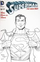 Superman Sketch Cover by staino
