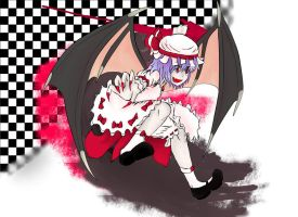 Remilia Scarlet (colored) by FULLMETALSOS