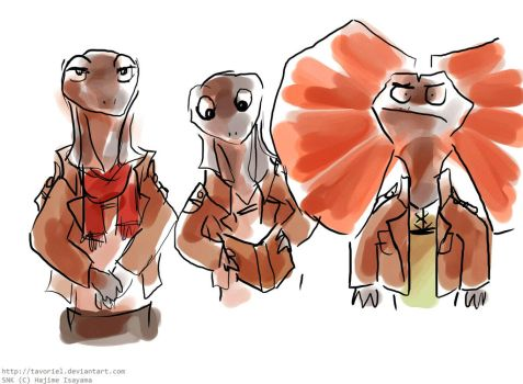 But What If They Were Frilled Lizards by Tavoriel