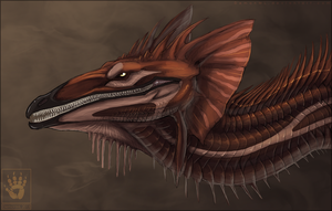 Skyrinian Dragon Head by DemonML