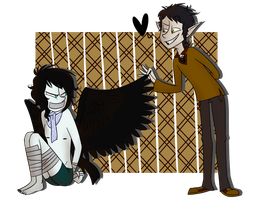Commish Septimus and Corvus by CandyBattleaxe