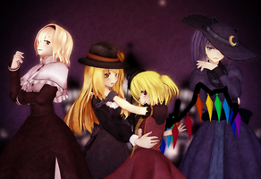 Halloween Magical Girls by MoonyWitcher