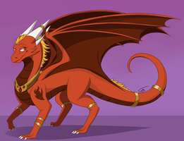 Dragonfire: Ember Commission 1/4 by LillaDraakon