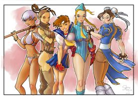 Street Fighter Girls by jFury