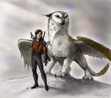 The Owl Griffin by RobtheDoodler