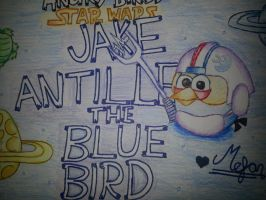Angry Birds Star Wars:Jake Antilles[Blue Bird] by MeganLovesAngryBirds
